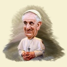 Caricature of Pope Francis