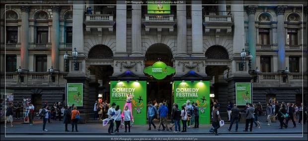 Melbourne Town Hall during the comedy festival